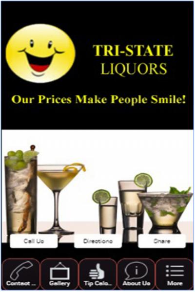 Tri-State Liquor's Mobile App in the Google Store
